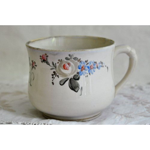 Antique Hand Painted Large Soup/Coffe Cup