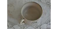 Grande tasse porcelaine de Gien 1900