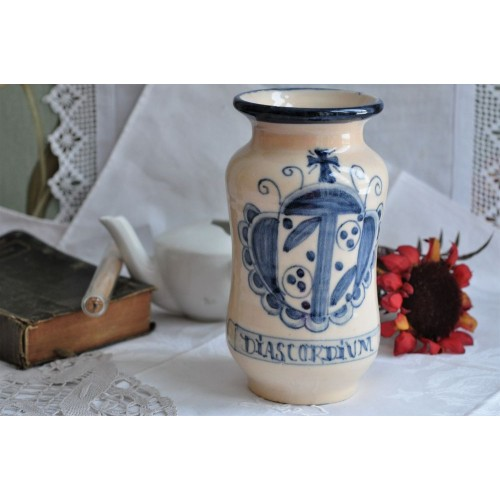 Majolica Faience Handpainted Apothecary Jar