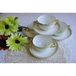 Limoges Bouillon Cups with Canadian Connection