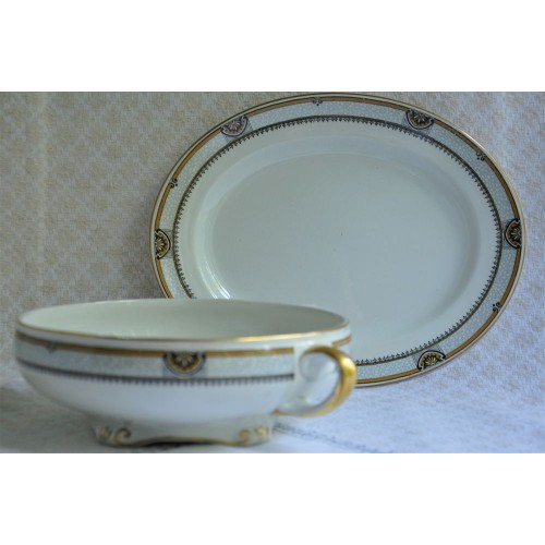 1930's Art Deco Gilded Serving Dishes