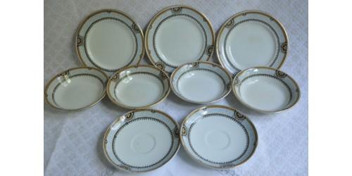 Vaisselle en faïence fine anglaise Art déco