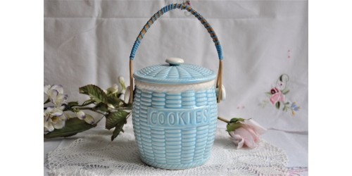 Light Blue Ceramic Cookie Jar