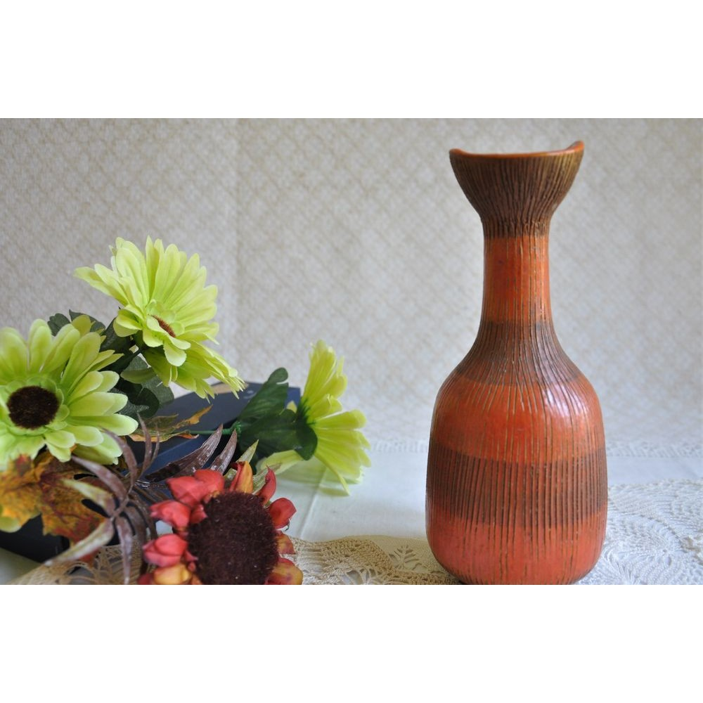 A rare Aldo Londi Bitossi Sunflower Vase