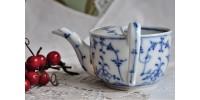 Tasse de malade ancienne décor bleu et blanc
