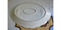 Grand plat de service en porcelaine de Limoges