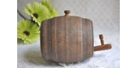 Vintage Ceramic Whisky Barrel with Spigot