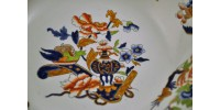 Assiette en faïence anglaise ancienne Copeland & Garrett