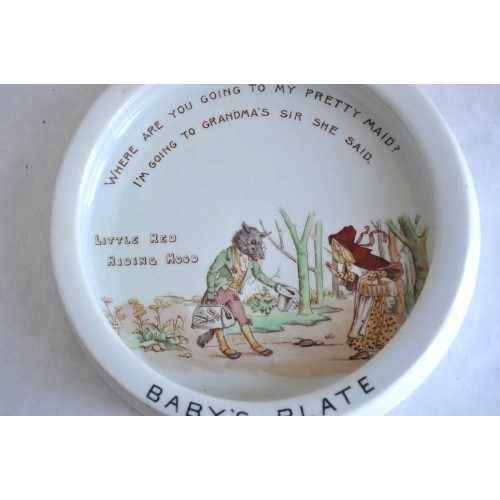 Little Red Riding Hood Baby's Plate by Foley circa 1900