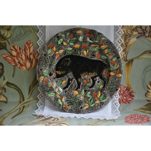 Hand Painted in France Hunt Motif Charger