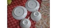 Tasses à expresso en porcelaine fine de Limoges