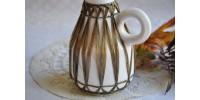 Vase Gmundner Keramik à décor de raphia