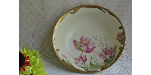 Victorian Hand Painted Porcelain Charger