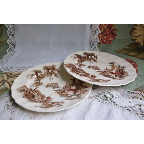 The Old Mill Salad Plates by Johnson Bros