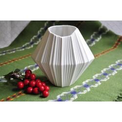 White Bisque AK Kaiser Op Art Porcelain Vase