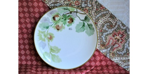 A. Lanternier Limoges Hand Painted Plate