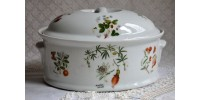 Lourioux France Design Lidded Baking Dish