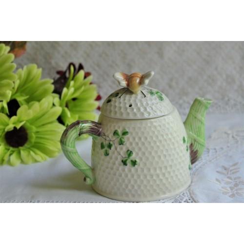 Occupied Japan Ceramic Beehive Clover Teapot