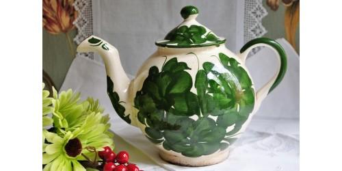 Antique Primitive Oversized Ceramic Tea Pot