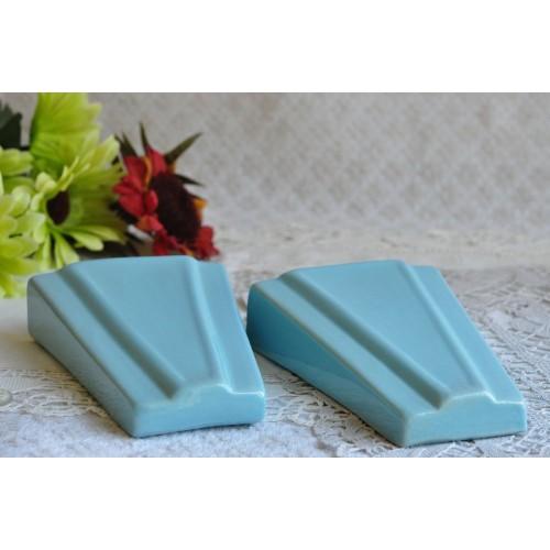 Pair of Ceramic Art Deco Wall Pocket