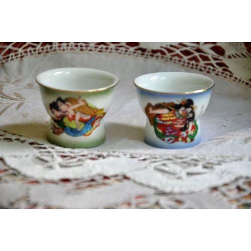 Vintage Erotica Japanese Sake Shot Glasses