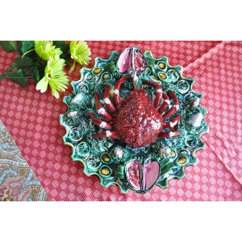 Relief Spider Crab Palissy Style Wall Plate