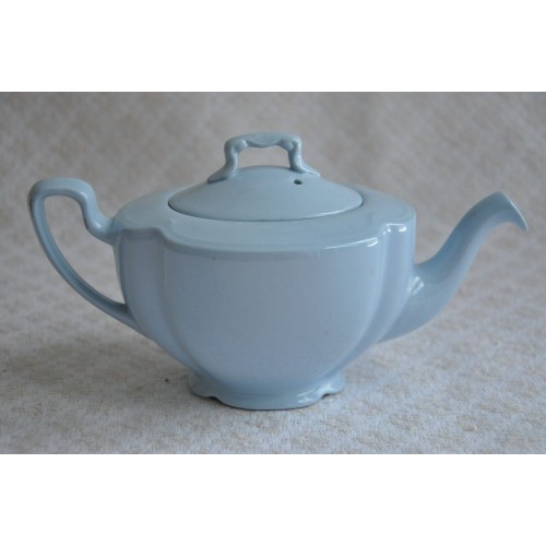 Vintage Johnson Brothers Pastel Blue China 'Greydawn' Teapot