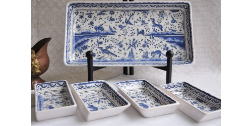 Berardos Portugal Hand Painted Serving Trays