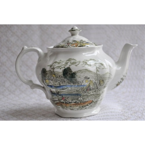 Ridgway Heritage Teapot with scene from Bartlett