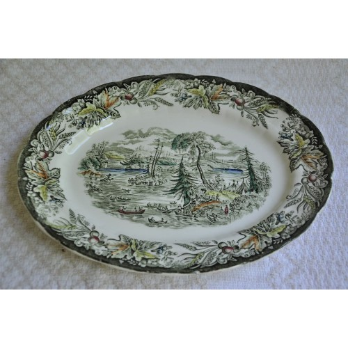 Ridgway Heritage Serving Platter Early Canada Scene