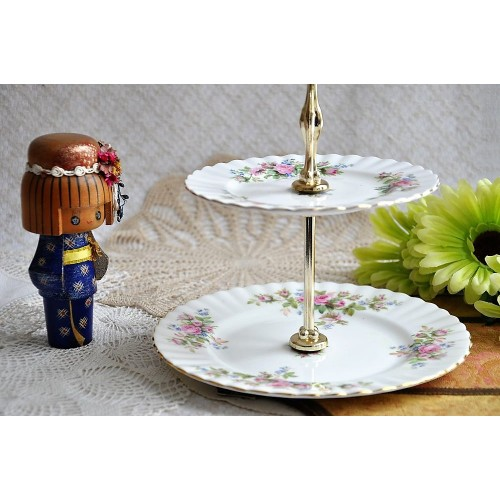 Vintage 2-Tier Royal Albert Cake Display Stand