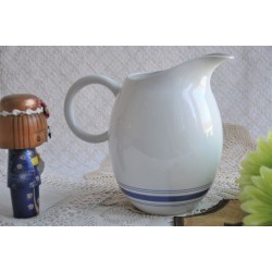 Royal Doulton Blue and White Ceramic Pitcher