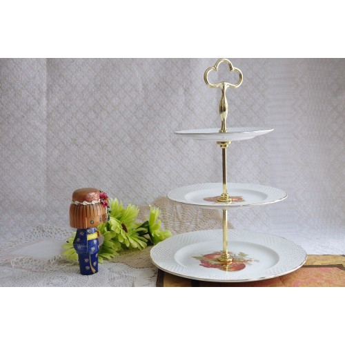 Vintage 3-Tier Cake and Cupcake Display Stand