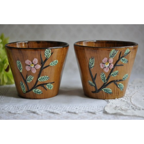 Pair of Vintage Italian Ceramic Plant Pots