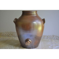 Vintage Hand Turned Stoneware Jar with Tap
