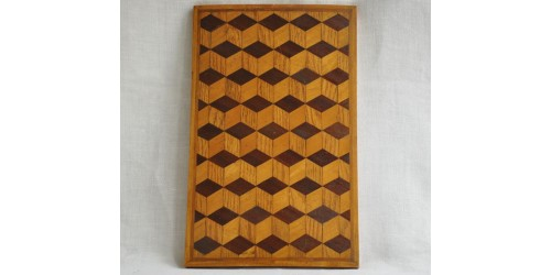 Antique Inlaid Wooden Box Cover