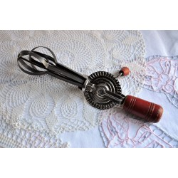 Old Hand Crank Beater with Wood Handles