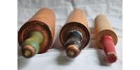 Anciens rouleaux à patisserie en bois