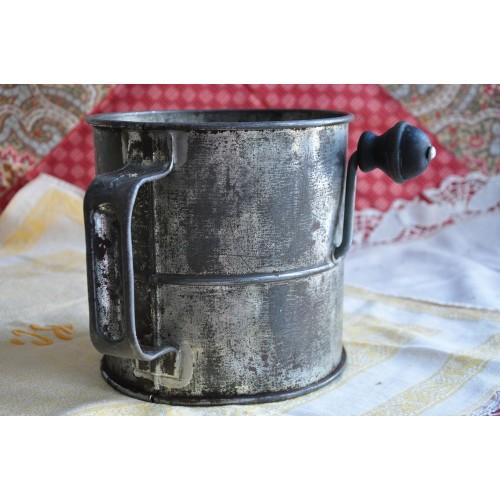Large Original Kraemer Tole Flour Sifter