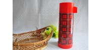 Red Plaid Vintage Aladdin Thermos
