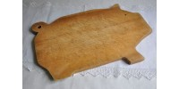 Planche à découper en bois en forme de cochon