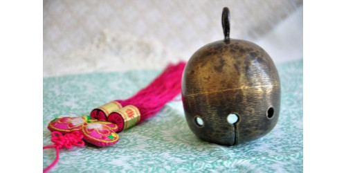 Antique Spherical Oriental Crotal Bell