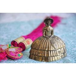 Solid Brass Vintage English Lady Bell