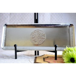 Haida Clarence A Wells Silverplated Serving Tray