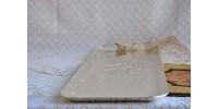 Grand plateau en métal signé Clarence A Wells