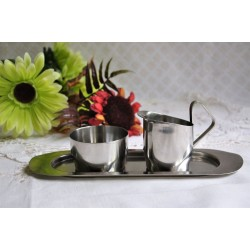 Vintage Danish Stainless 3-Pieces Coffee Set