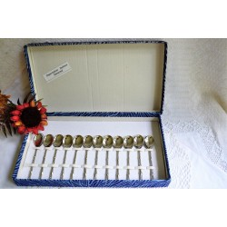 Set of 12 Vintage Boxed Small Coffee Spoons