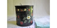 Boîte de tôle peinte, art populaire ancien