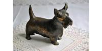 Figurine de scottish terrier Art déco Frankart en métal