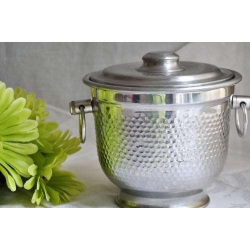 Hammered Aluminum Ice Bucket From Italy